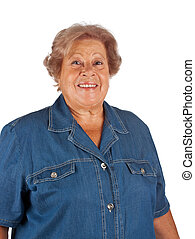 Portrait of smiling old woman - Portrait of old woman...