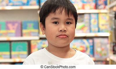 Portrait of smiling schoolboy