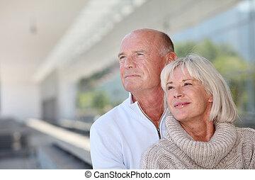 Portrait of smiling senior couple