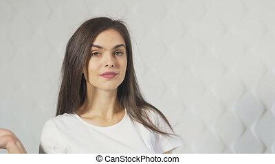 Portrait of Smiling Shopper - Portrait of a smiling shopper...