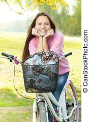 Portrait of smiling student girl