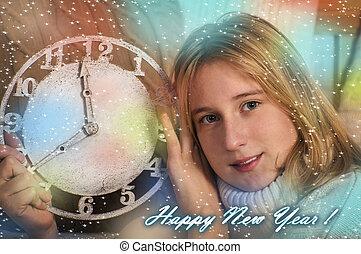 Portrait of smiling teenage girl sh