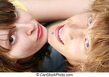 Portrait of smiling young beauty couple 1