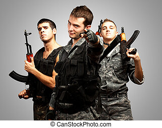 Portrait Of Soldiers