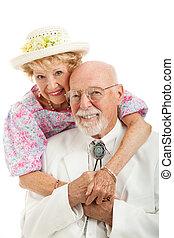 Portrait of Southern Senior Couple - Portrait of handsome...