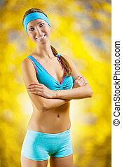 portrait of sports girl
