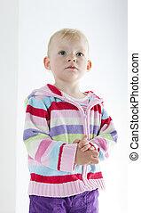 portrait of standing little girl