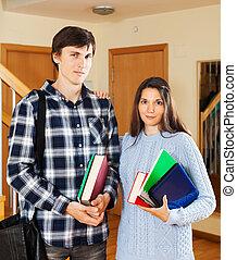 Portrait of student couple