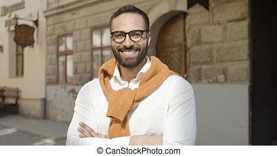 Portrait of Stylish Businessman