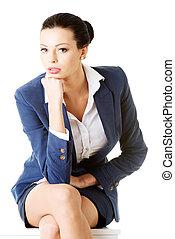 Portrait of successful attractive businesswoman