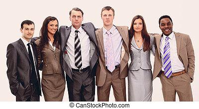 portrait of successful business team