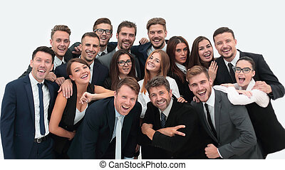 portrait of successful business team on a white background
