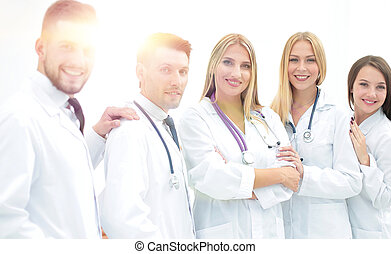 portrait of successful medical team