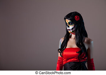 Portrait of sugar skull girl