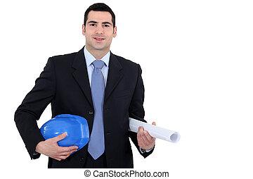 Portrait of surveyor