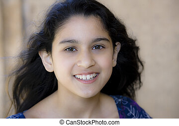 Portrait Of Teen Girl Smiling