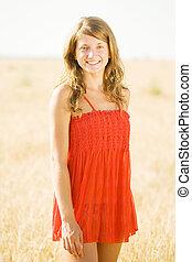 girl outdoor in summer