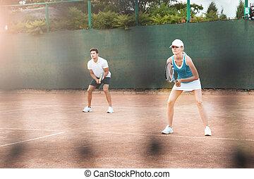 Portrait of tennis players