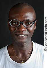 Portrait of the African young man