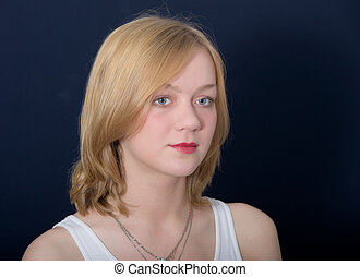 Portrait of the beautiful blonde