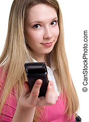 serenity girl with cellular phone