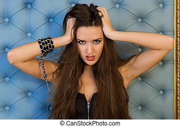 Portrait of the beautiful woman