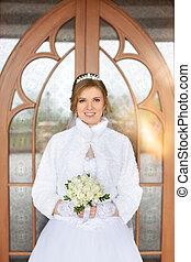 Portrait of the bride close-up