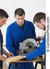 portrait of the carpentry team