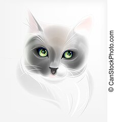 Portrait of the cat. Watercolor style.