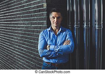 Portrait of the European businessman.