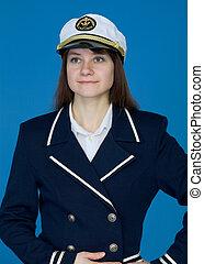 Portrait of the girl - captain