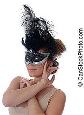 girl in a carnival mask