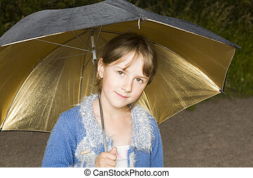 Portrait of the girl with a umbrella