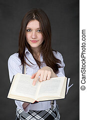 Portrait of the girl with book