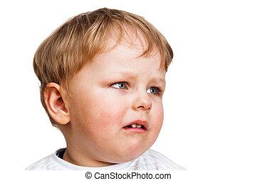 Portrait of the little boy, close up