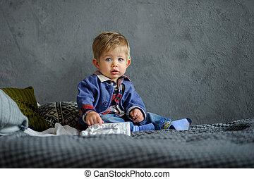 Portrait of the little boy.
