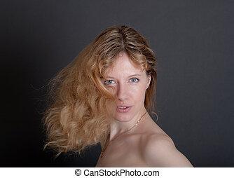 portrait of the sensual blonde