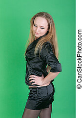 sensual girl in black
