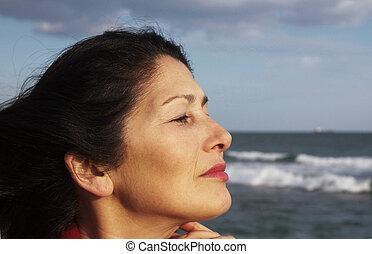 Portrait of the woman