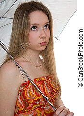 young girl with a umbrella