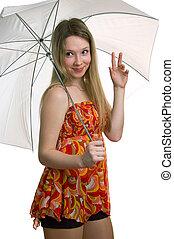 girl with a umbrella