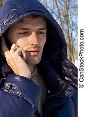 men with cellular phone
