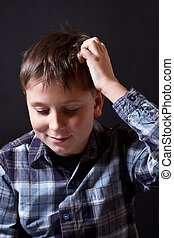 Portrait of thinking teenager