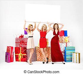 Portrait of three adorable women