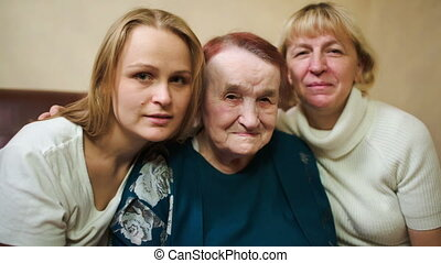 Portrait of three women of different age