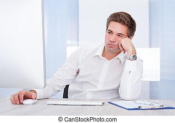 Portrait Of Tired Businessman