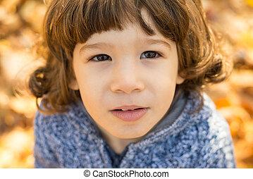 Portrait of toddler boy