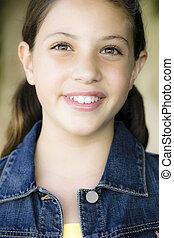 Portrait Of Tween Girl - Tween Girl Smiling To Camera