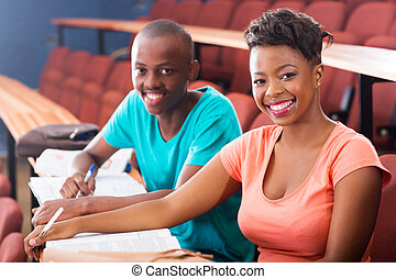 two african college students
