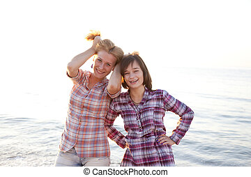 Portrait of two beautiful girls